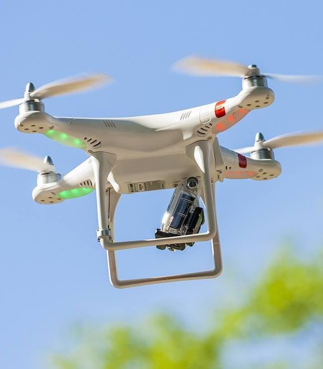 Grabación aérea con dron